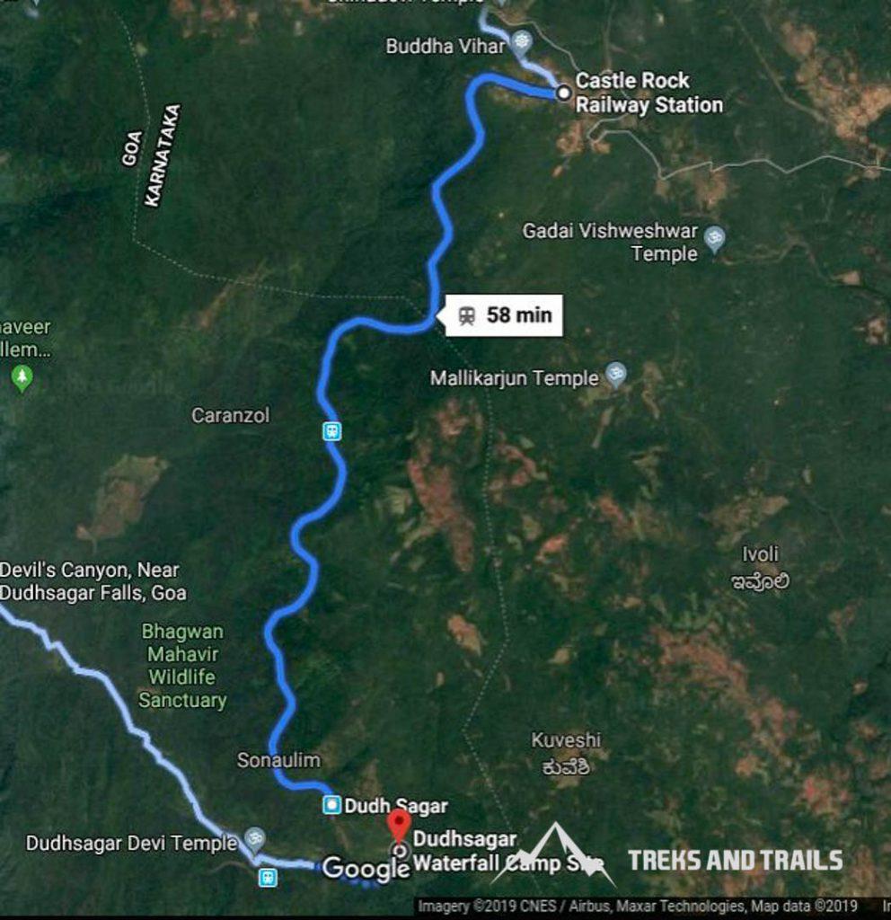 Dudhsagar-Waterfall-Trek-Map-1
