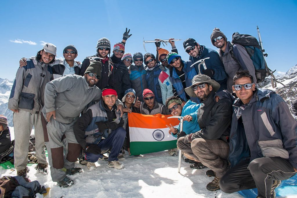 Basic-Mountaineering-Course-India-Flag